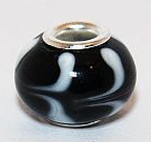 Wechselperle S3 ca. 15mm schwarz weiß