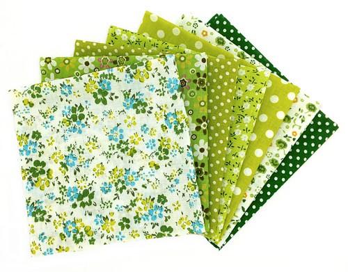 Stoffseiten 7-teilig 25 x 25 cm grün
