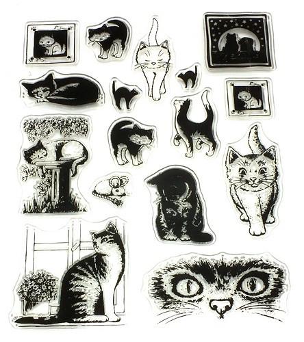 Stempel-Set Katzen ca. 14 x 18 cm