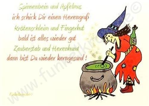 Hexenkarte - Gute Besserung