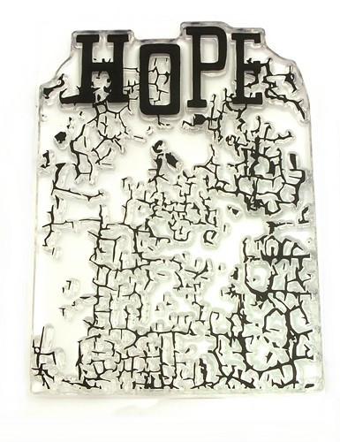 Stempel Hope ca. 7 x 10 cm 1Stk