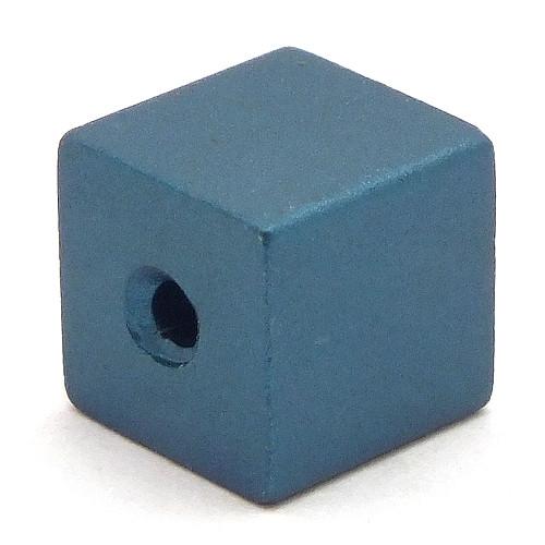 Loxalu® Beads Würfel ca. 8 x 8mm ozeanblau 1Stk