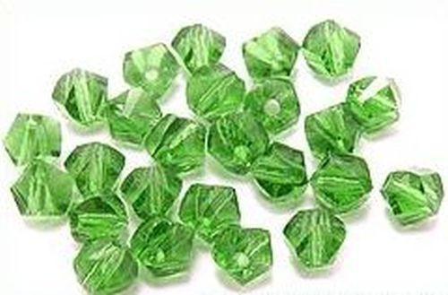 Glasschliff Klümpchen ca. 6mm grün