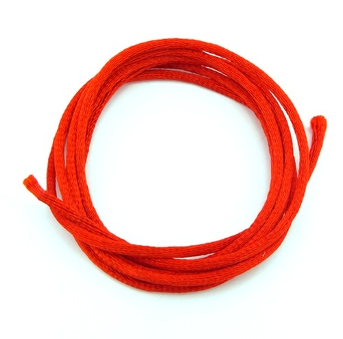 Satinband ca. 2mm rot 1m