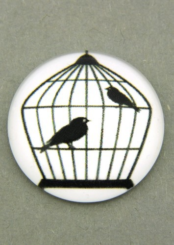schwarz-weiß Cabochon Käfig K ca. 20mm