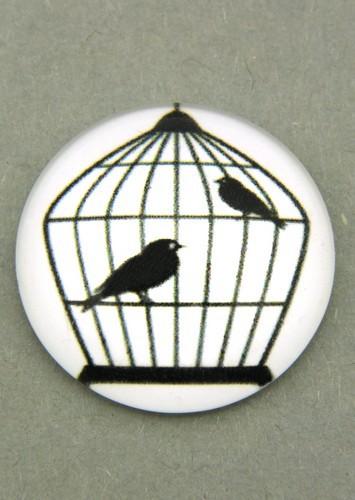 schwarz-weiß Cabochon Käfig K ca. 20mm 1Stk