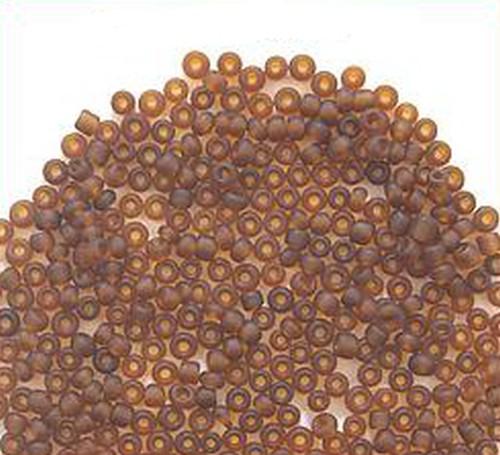 Rocailles ca. 2mm #M13 braun gefrostet 50g
