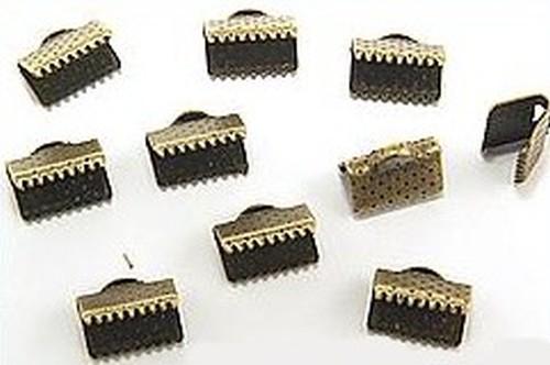 Kordelklemmen Vintage ca. 10 x 6mm antikfarben
