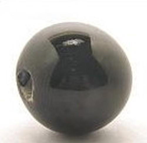 Keramikperle Pasipo ca. 18mm schwarz 1Stk