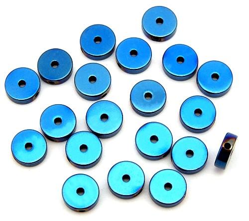 Hämatit Scheiben blue ca. 6mm 20Stk