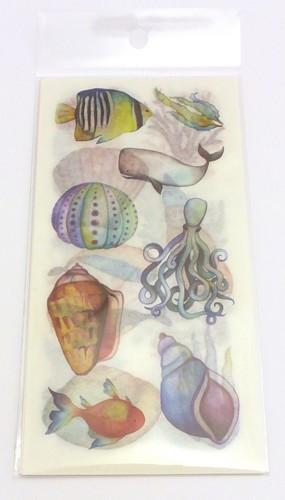 Papier Sticker Set Ocean Life 6-teilig