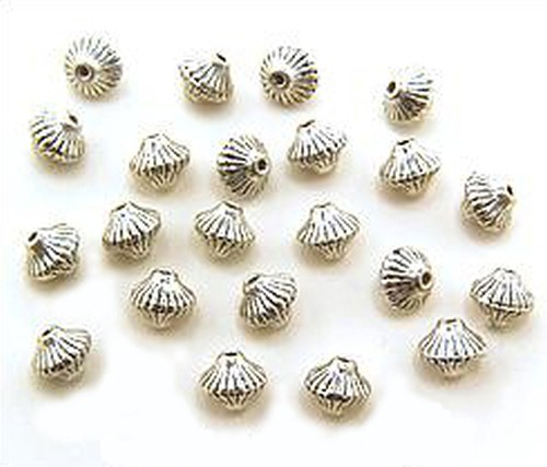 Metallperlen Diabolo (AB-0932) ca. 6 x 6,5mm 20Stk