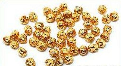 Metallklümpchen ca. 3mm goldfarben 50Stk