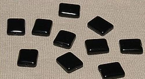Glasperlen Kissen ca. 10x12mm Nr. 49 schwarz
