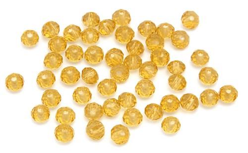 Glasschliff-Rondelle ca. 3 x 4mm topaz 50Stk