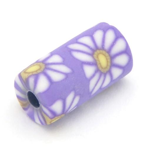 Blütenwalze Purple Daisy ca. 11 x 6mm 1Stk