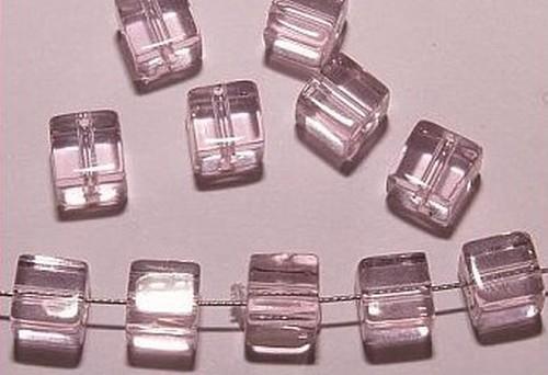 Glaswürfel ca. 6mm #04 rosa