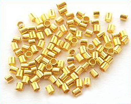 Quetschröhrchen 1,5mm goldfarben 100Stk