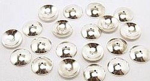 Perlkappen glatt silberfarben ca. 10mm 20Stk