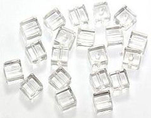 Glaswürfel ca. 6mm #01 kristall 20Stk