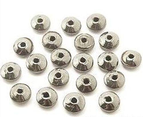 Hämatit Rondelle ca. 6 mm 20Stk