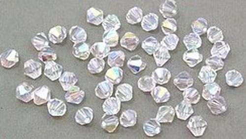 Bicone Glasschliffperlen ca. 4mm #01 A/B klar 50Stk
