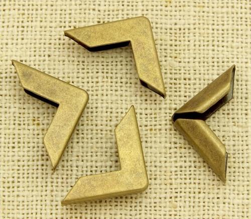 Buchecken Metall ca. 1,5cm antik bronzefarben 4Stk