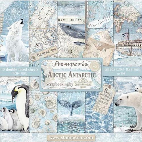 Stamperia Papierset Arctic Antarctic 20,3 x 20,3 cm
