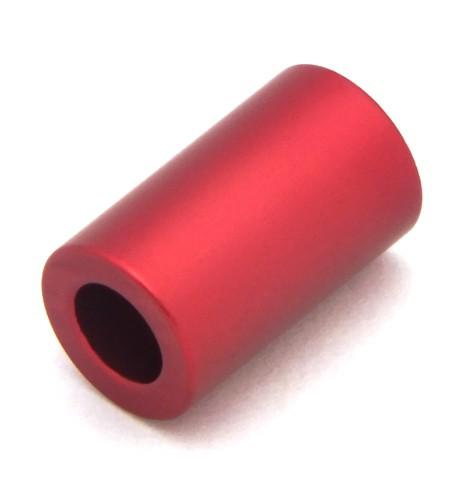 1 Loxalu® Beads Röhrchen ca 10 x 6mm anthrazit