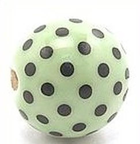 Keramikperle Katika ca. 18mm mint-schwarz