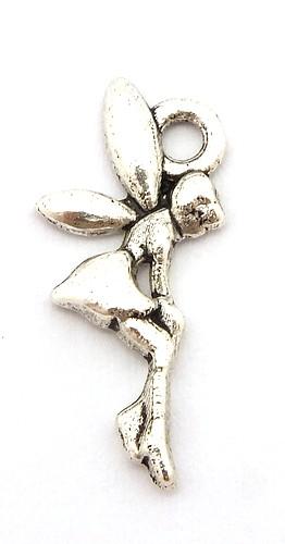 Metallanhänger Fee ca. 19 x 8,5mm silberfarben
