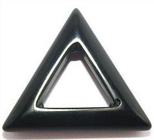 Anhänger Onyx Dreieck ca. 35mm 1Stk