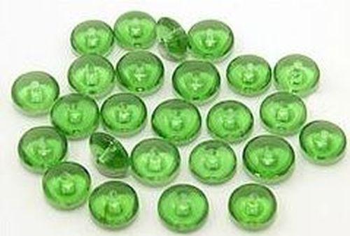 Glaslinsen ca. 4 x 8mm #28 grün
