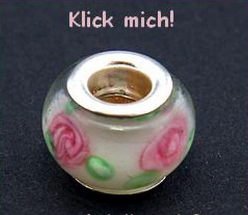 Wechselperle W9 ca. 15mm weiß rosa