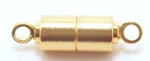 Magnetverschlüsse Stäbchen, stark goldfarben 5Stk
