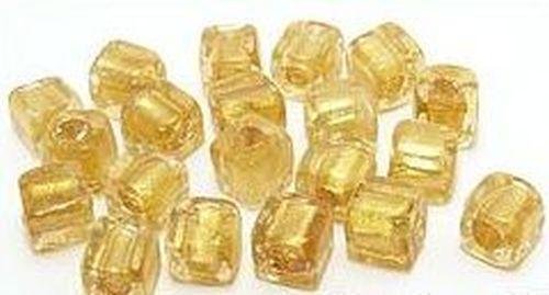 Goldfoil-Würfel ca. 8mm #10 gold 20Stk