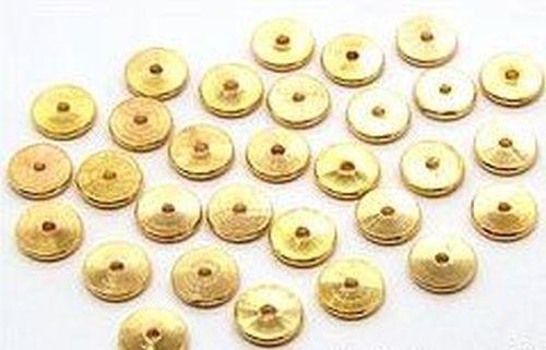 Metallscheiben ca. 6mm goldfarben 30Stk