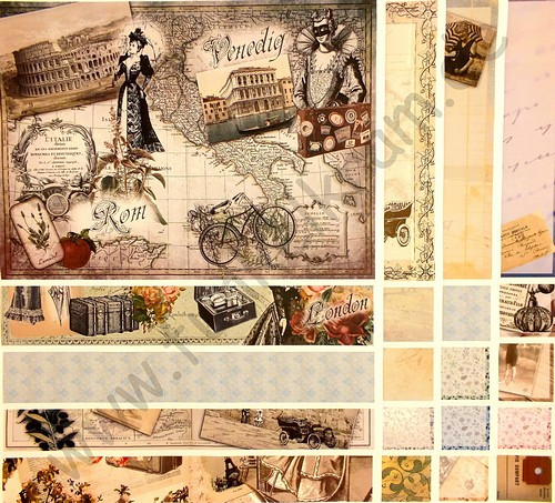 JunkJournal Papierset Lady Traveller 1 Stk