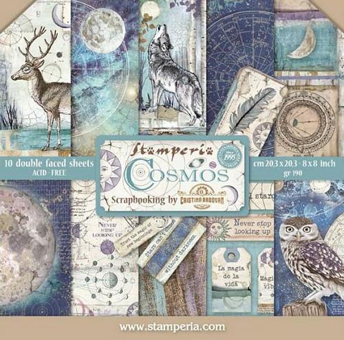 Stamperia Papierset Cosmos 20,3 x 20,3 cm