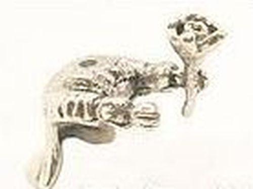 Frack Alfons ca. 20 x 25mm altsilberfarben 1Stk
