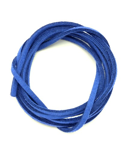 Veloursband ca. 3mm blau 1m