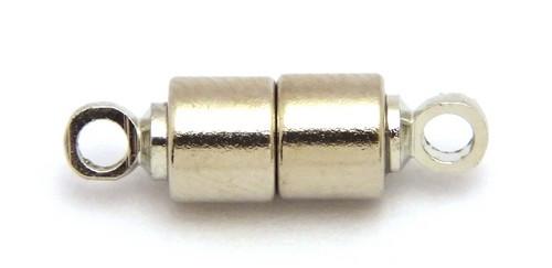 Magnetverschlüsse Stäbchen M stark silberfarben 10Stk
