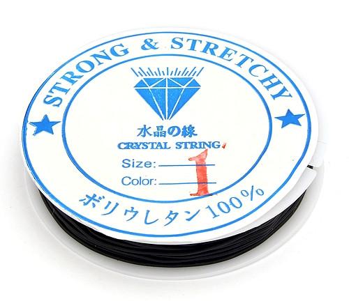 Stretchmagic / Elastikband ca. 1,0mm schwarz ca.5m