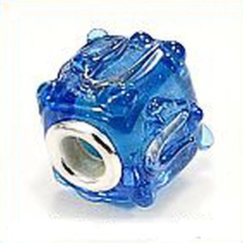 Wechselperle Würfel ca. 15 x 15mm blau