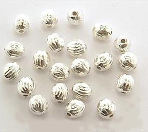 Metallperlen A18 hellsilberfarben ca. 5mm