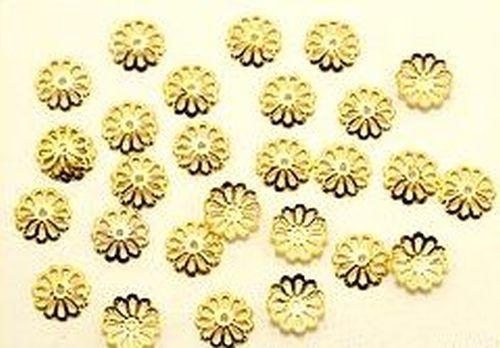 Perlkappen Jugendstil goldfarben ca. 9mm 50Stk