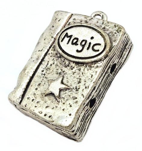 Buch der Magie A ca. 30x22,5x10mm altsilberfarben