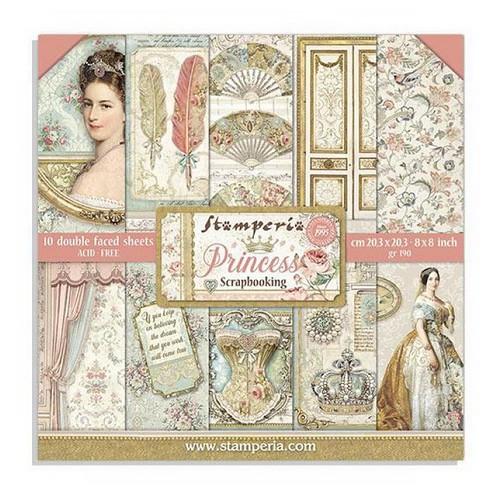 Stamperia Papierset Princess 20,3 x 20,3 cm