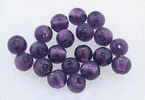 Silverfoil-Perlen, pflaume (Nr. 23) ca. 10mm 20Stk