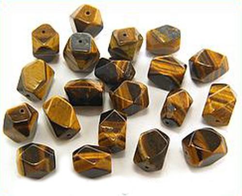 Tigerauge Nuggets facettiert ca. 10 x 10 x 14mm 10Stk